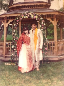 My handsome husband and I in the Hindu portion of our wedding.