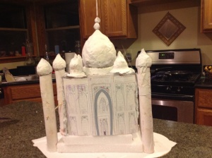 I helped my daughter make this model of the Taj in 2014. Hours and hours of work